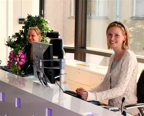 front desk security officer responsibilities receptionist wikipedia