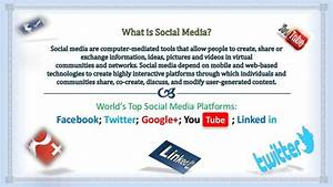 Social Media Project Presentation (PPT) for NIIT