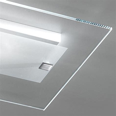Illuminazione Plafoniere Illuminazione Led Plafoniera Rettangolare Vetro Flat Led