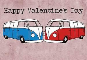 Volkswagen Valentine's Day card by Bami Valentine's ...
