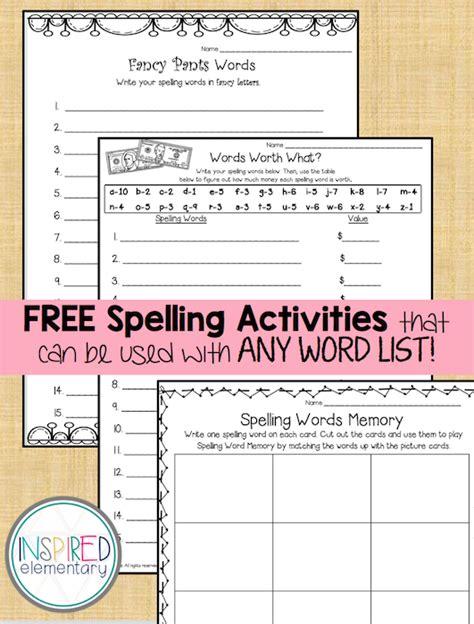 spelling activities freebies secondgradesquad com