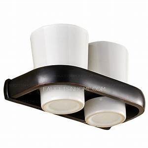 Chic Black Oil Rubbed Bronze Ceramic Wall Mount Toothbrush