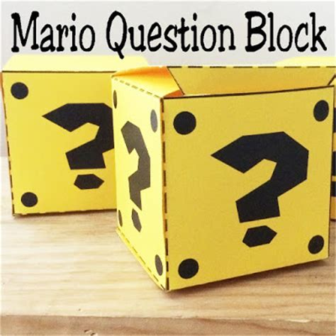 mario question block l mario question box free printable everyday