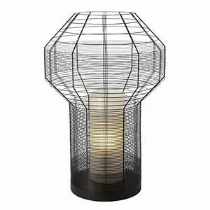Lampe à Poser Design : grande lampe poser design en m tal noir blind ~ Teatrodelosmanantiales.com Idées de Décoration