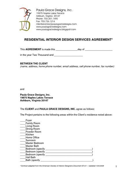 interior design contract template 19 design agreement template images interior design