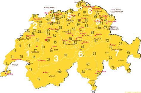 postleitzahlenkarte schweiz