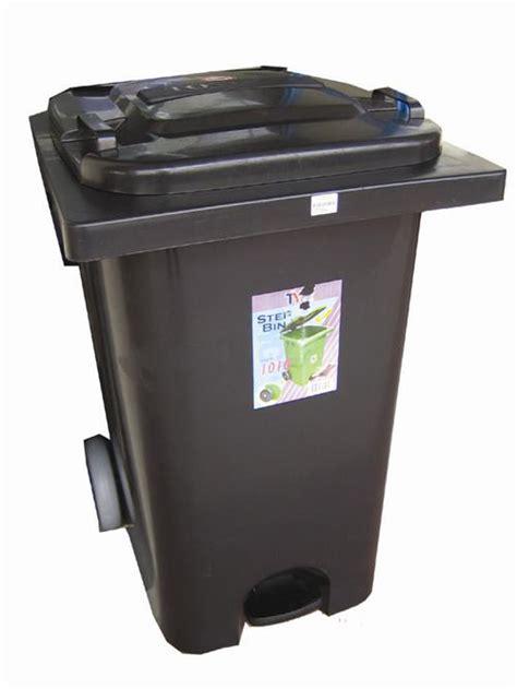 step bin  wheels black dustbin household