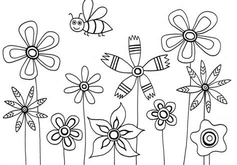 Kids Coloring Pages Flowers