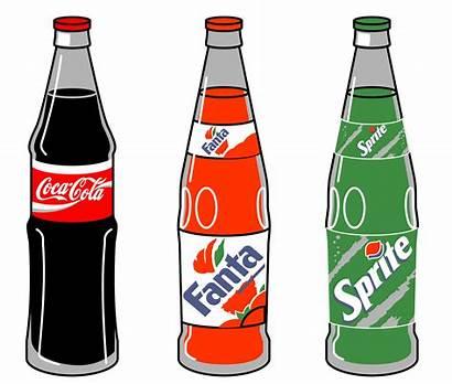 Cola Coca Pepsi Clipart Bottle Pop Clip