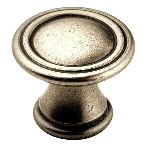 Antique Nickel Cabinet Knobs by Amerock 1 3 16 In Antique Nickel Cabinet Knob Bp24009an
