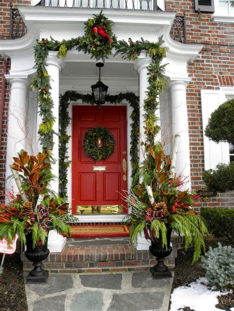christmas ideas 2013 christmas front door entry and porch roundup decorating ideas
