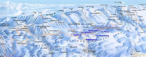 Carte Interactive Des Montagnes De by Interfrance Station De Ski Hautes Combes Du Jura