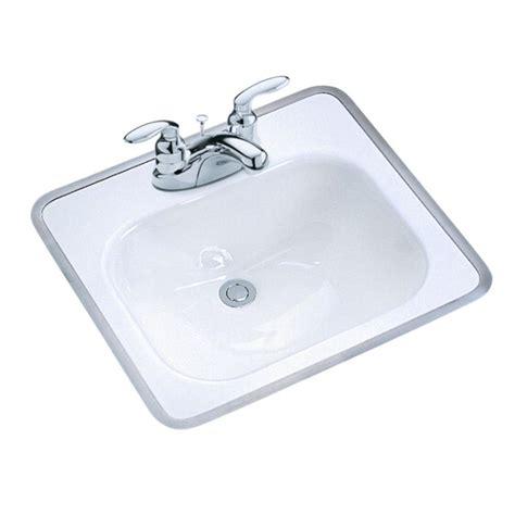 Kohler Sink Bathroom by Kohler Drop In Bathroom Sink Basin Cast Iron 4 Quot Centerset
