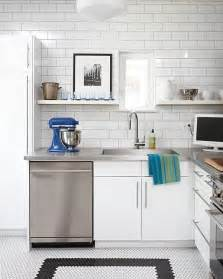 kitchens with subway tile backsplash 15 kitchens with stainless steel countertops
