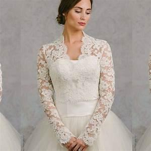 Aliexpresscom buy custom made long sleeve wedding wrap for Wedding dress bolero