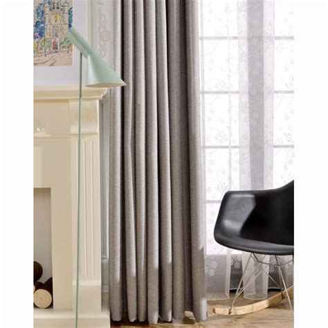Note Bedroom Curtains by Gray Linen Jacquard Cheap Thermal Contemporary Bedroom