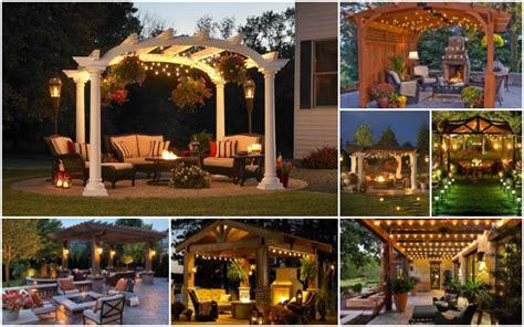 pergola lights add    romantic    outdoors