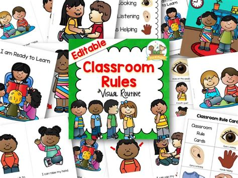 classroom rules pre  pages