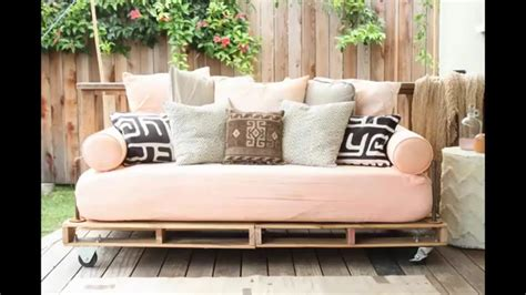 diy pallet couch youtube