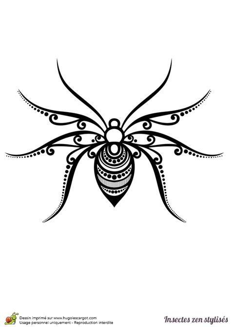 jeux de cuisine de high dessin à colorier d 39 une araignée stylisée hugolescargot com