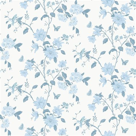 foto de Papier peint LUTECE English Floral colibri bleu Papier