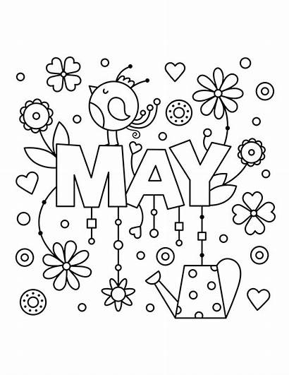 Coloring Pages Spring Printable Primarygames Ebook Month