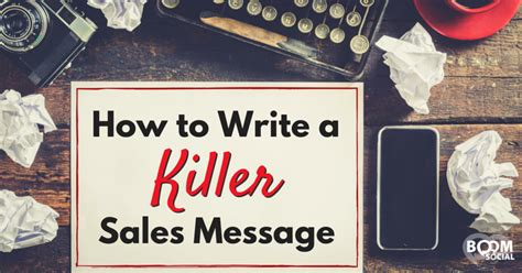How To Write A Re by How To Write A Killer Sales Message