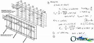Concrete wall form design example civil engineering
