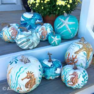 Non Carving Pumpkin Decorating Ideas by Everything Coastal 7 Painted Pumpkin Ideas For The Coast
