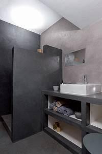 Cire Pour Meuble : meuble salle de bain douche italienne b ton cir ~ Teatrodelosmanantiales.com Idées de Décoration