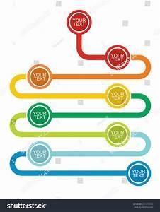 Graph Flow Diagram Illustration Copy Paste Stock Vector