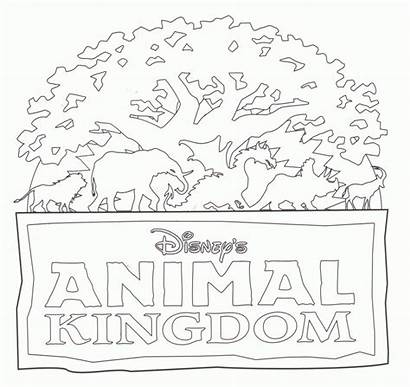 Coloring Kingdom Pages Magic Florida Disney Tree