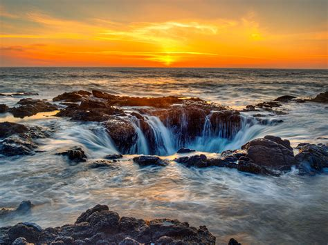 Photos USA Oregon Sea Nature Scenery Sunrises and sunsets