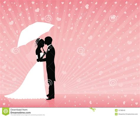 pink wedding background stock vector illustration