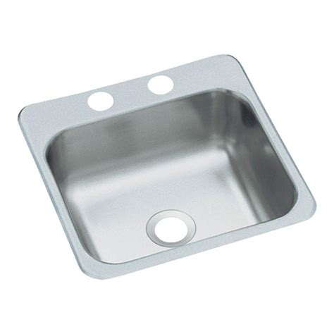 Sterling Dropin Stainless Steel 15 In 2hole Single Bowl