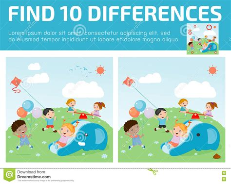 find differences for find differences brain 173 | find differences game kids find differences brain games children game educational preschool vector 73227071