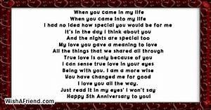 5th Anniversary Poems