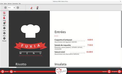 Carte De Menu Restaurant by Cr 233 Er Et Imprimer Les Cartes Et Menu De Votre Restaurant
