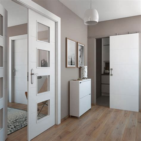 puerta de interior maciza artens lucerna blanca ref