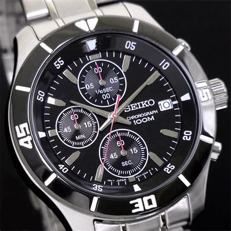 jam tangan seiko original chronograph 010 elevenia