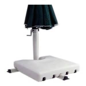 white outdoor deck patio offset umbrella stand base ebay