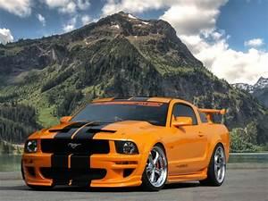 2017 Mustang 5.0 (orange) - High Definition Wallpaper