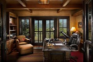 Home Office Design: The Exotic Rustic Home Office Design