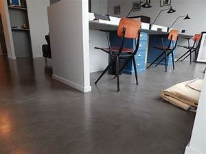 Beton Cire Deco : revetement beton cire sol cloisons ajourees accueil ~ Premium-room.com Idées de Décoration