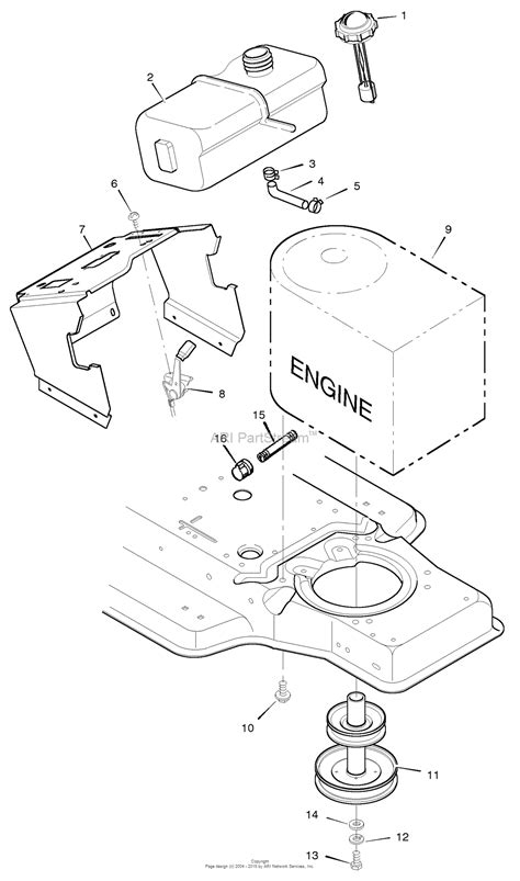 murray  lawn tractor  parts diagram