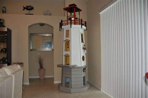 handmade lighthouse cat tower  square paws custommadecom