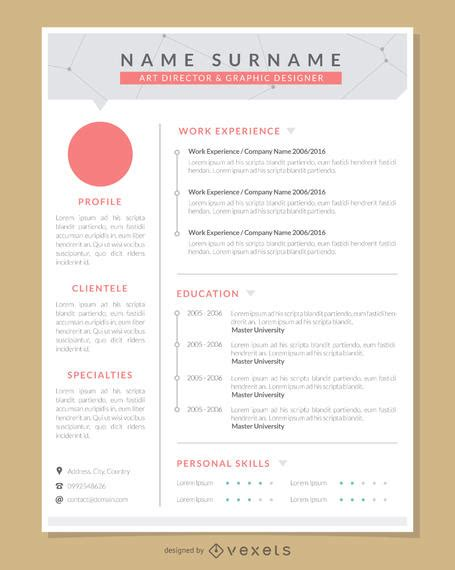 Pro Resume Template by Graphic Artist Pro Resume Template Vector
