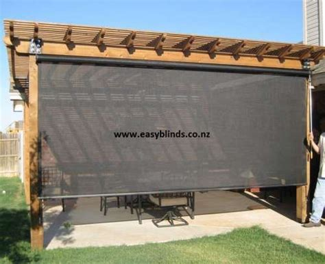 Outdoor Roller Blinds by Outdoor Blinds Nz Pvc Outdoor Roller Blinds Ogrody