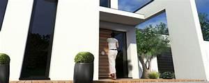 Porche Entrée Maison : porche d entr e maison contemporaine menuiserie ~ Premium-room.com Idées de Décoration