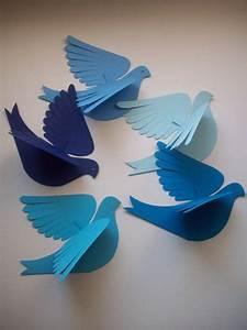 Comment Faire Un Oiseau En Papier : paper birds lily bird five bluebirds d co oiseau en papier bricolage papier et animaux en ~ Melissatoandfro.com Idées de Décoration